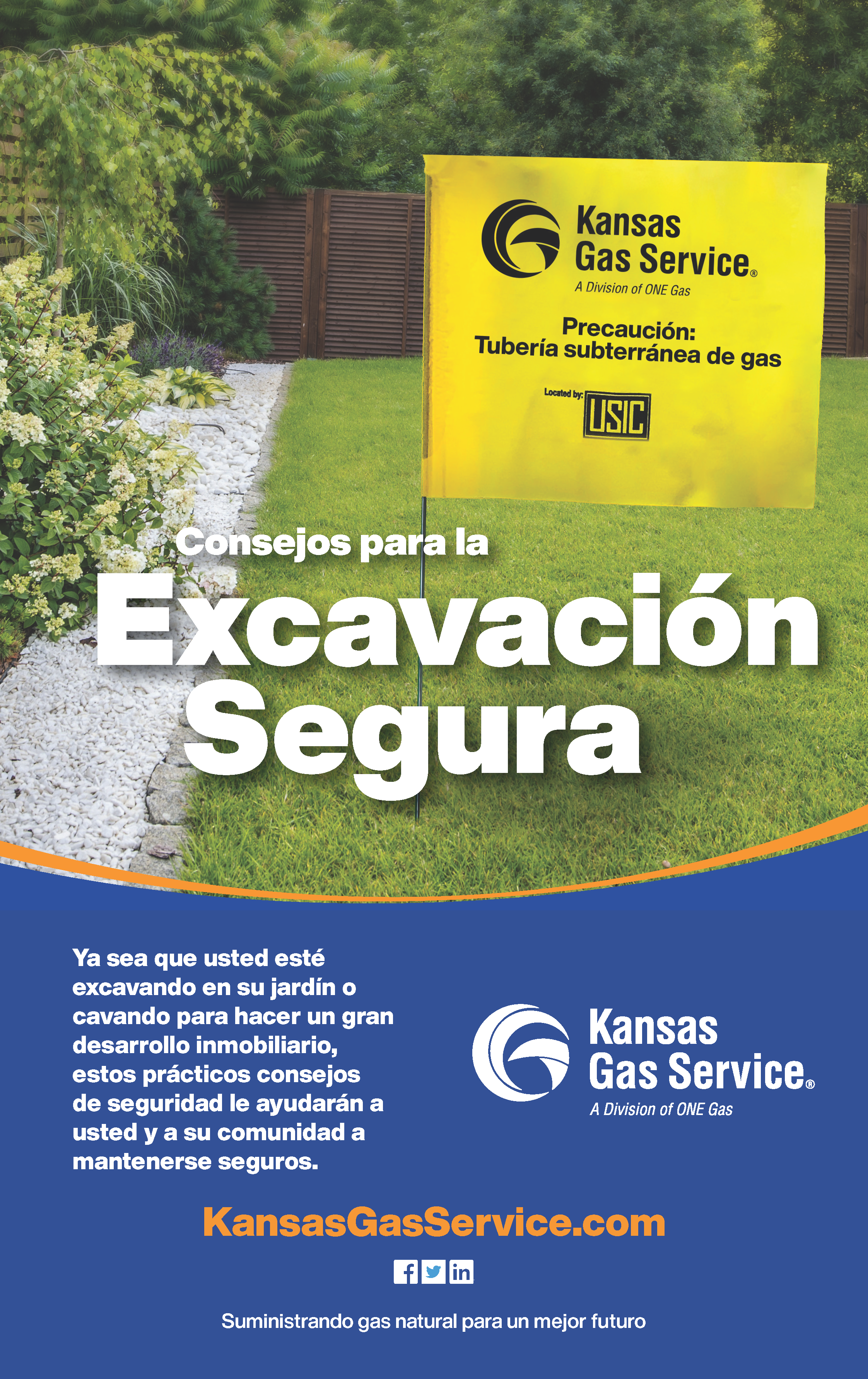 KGS Safe Digging Flyer Spanish